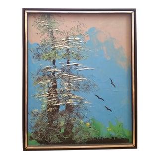 Signed Morris Katz Forest Landscape Oil Painting