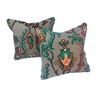 Kilim Fragment Pillows - Pair