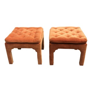 Parsons Style Footstools - A Pair