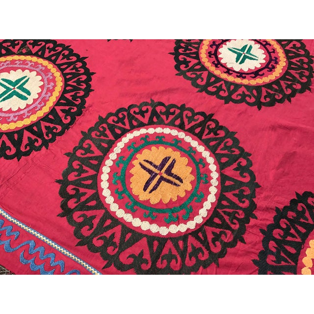 Oversized Vintage Suzani Tapestry - 14.8 x 6' - Image 3 of 6
