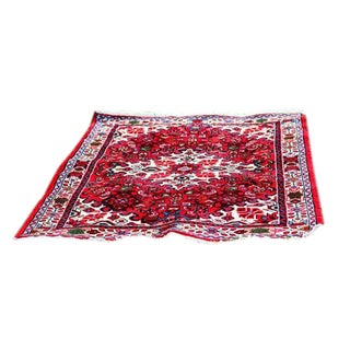 "Vintage Turkish Bohemian Area Rug - 4'4"" x 2'9"""