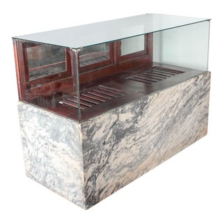 Antique Marble & Glass Store Display