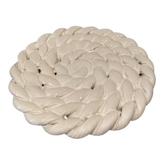 Braided Ceramic Whiteware Trivet