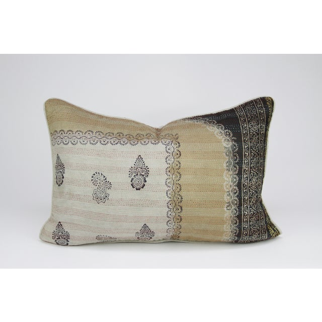 Bengal Silk Katha Paisley Pillow - Image 3 of 3