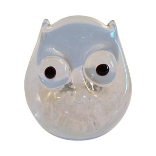 Vintage Art Glass Owl