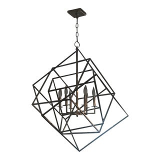 Cubic Chrome 6-Light Chandelier