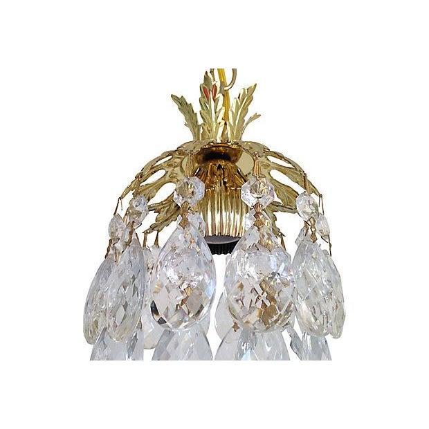 Image of Schonbek Crystal Pendants - Pair