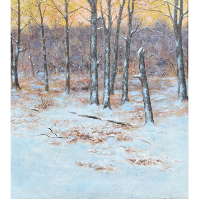 Winter Impressionist Painting of Central Park - Image 5 of 8