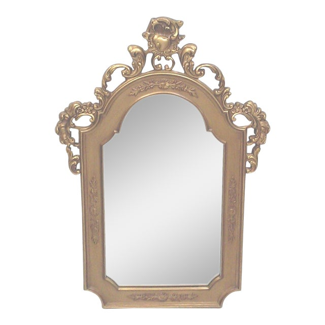 Gilt baroque wall mirror chairish for Plastic baroque mirror