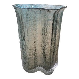 Signed Timo Sarpaneva Smoked Ice Glass Vase