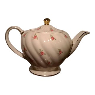 Vintage Sadler Pink Roses Teapot