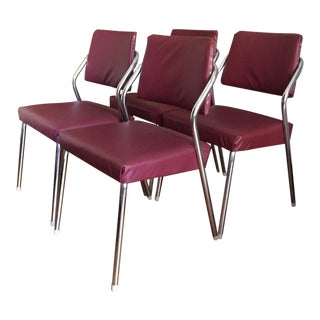 1950s Chrome Dining Chairs - Set of 4