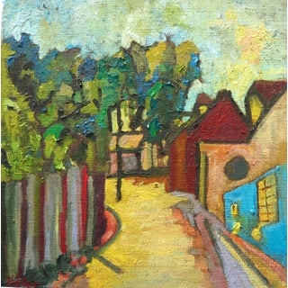 Contemporary Martha Holden French Village Painting