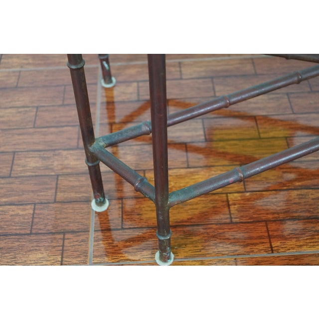 Vintage Faux Bamboo Coffee Table - Image 4 of 6