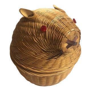 Vintage Wicker Rabbit Basket