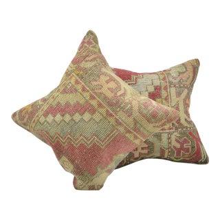 Handmade Antique Rug Cushion Covers - A Pair