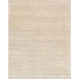 "Pasargad Transitional Bamboo Silk & Wool Area Rug - 7'11"" X 10'"