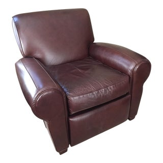 Pottery Barn Manhattan Leather Recliner