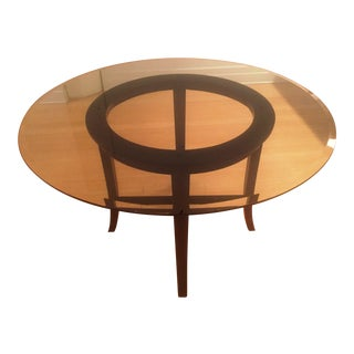 Crate and Barrel Halo Round Dining Table