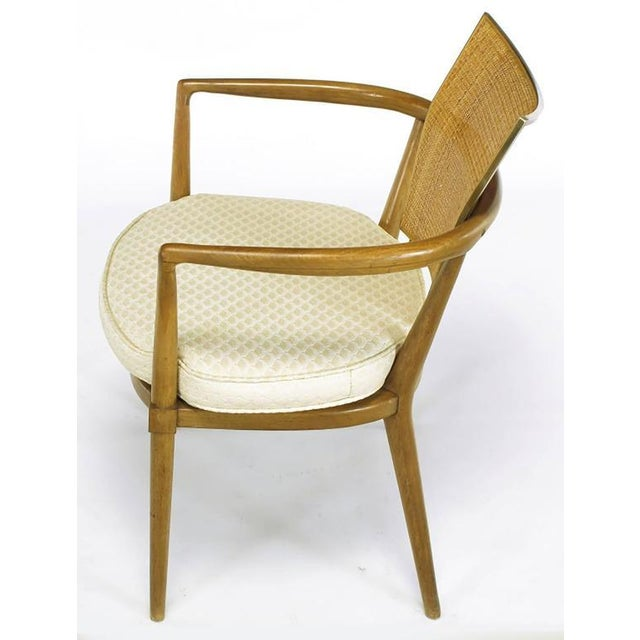 Set of Six Bert England Mahogany, Brass and Cane Dining Chairs - Image 5 of 7