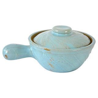 Vintage Petite Blue Handled Baker