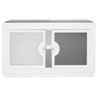 Paul Laszlo-Style White Lacquer Cabinet