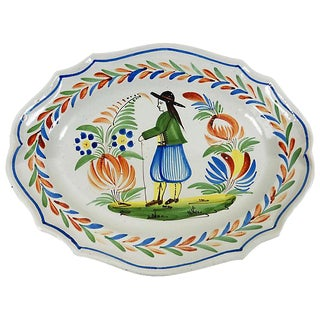 French Quimper Wall Platter