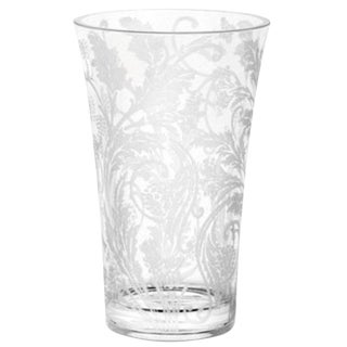 "Christofle France ""Marly"" Crystal Etched Vase"