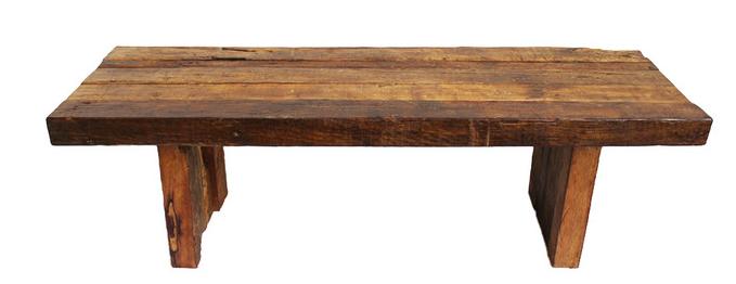 Teak Railroad Tie Bench/Table