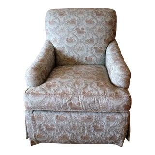 Pearson Chinoisirie Toile Swivel Chair, Floor Sample
