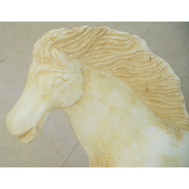 1940's Carved Marble Horse Statue - Image 11 of 11