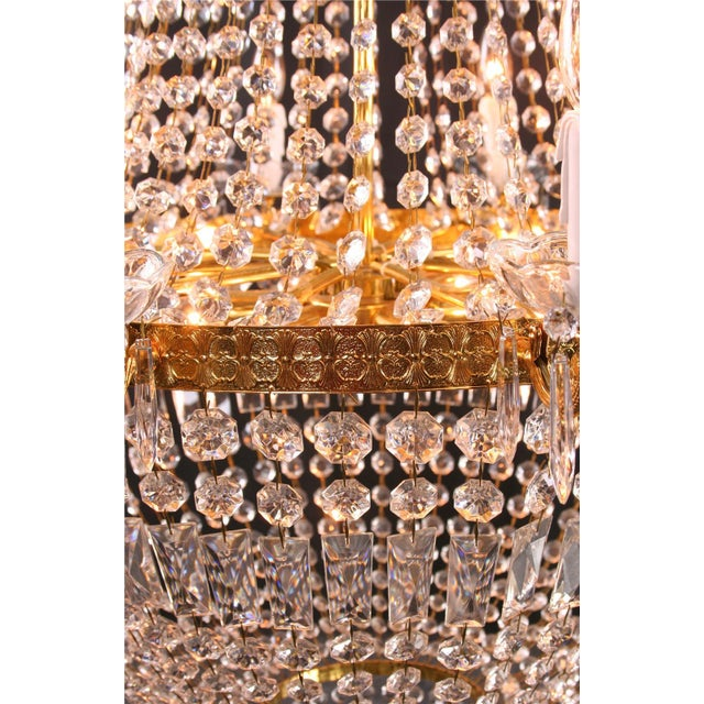 Italian Cut Glass Empire Napoleon Style Chandelier - Image 4 of 6
