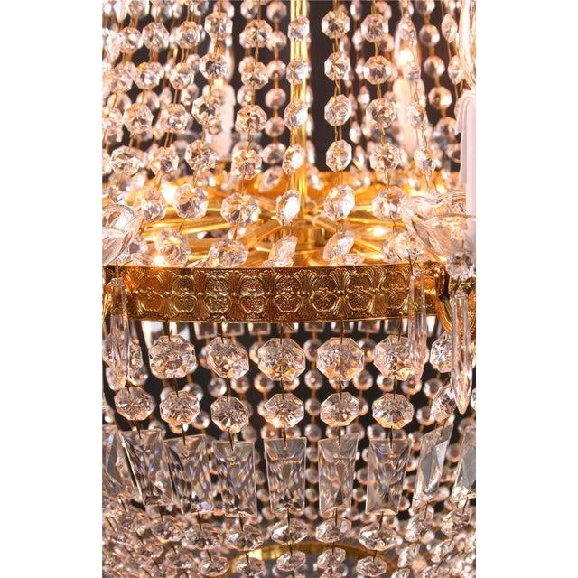 Image of Italian Cut Glass Empire Napoleon Style Chandelier