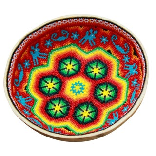 Huichol Ceremonial Beaded Bowl
