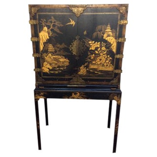 Chinoiserie Style Black & Gold Chest