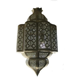 Large Moroccan Style Hand Cut Tin Pendant
