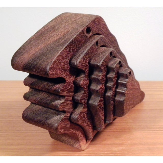 Mid-Century Modern 3D Silhouette Wood Sculpture - Image 4 of 5