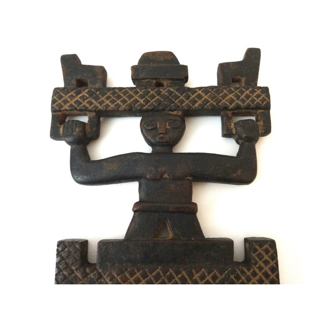 African Ashanti Tribe Carved Comb Figure Ghana - Image 2 of 6