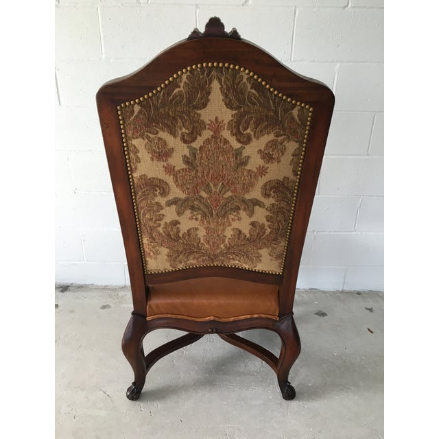 Image of Hendredon High Backed Carved Arm Chair