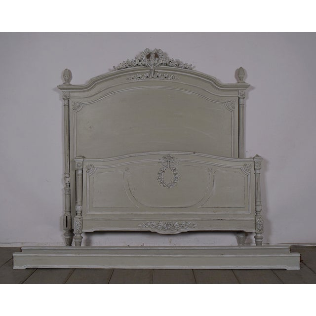 Image of Antique French 19th C. Louis XVI Queen Size Bed