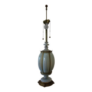 Mid-Century Opaline Seguso Lamp