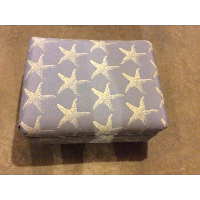 "Image of ""Starfish Blue"" Chair & Ottoman Set"