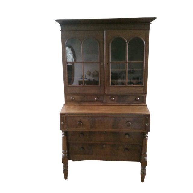 Antique Secretary Desk with Shelving - Image 1 of 9