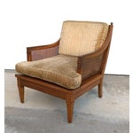 Image of Vintage Mid Century Cane Back Lounge Chair