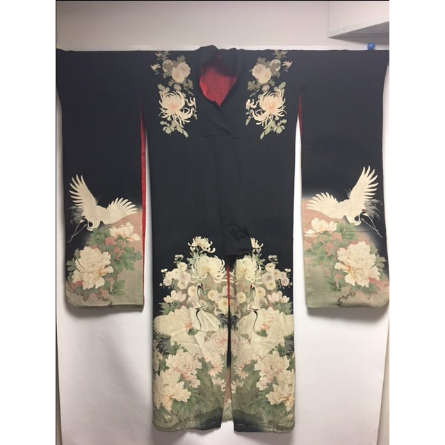 1940's Silk Screened Adult Kimono - Image 3 of 11