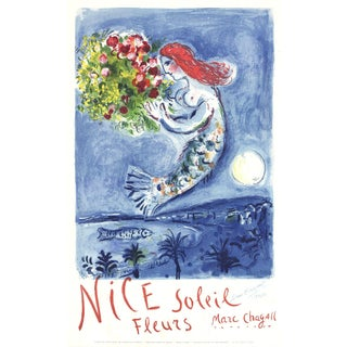 Marc Chagall Bay of Angels Signed Lithograph, 1962