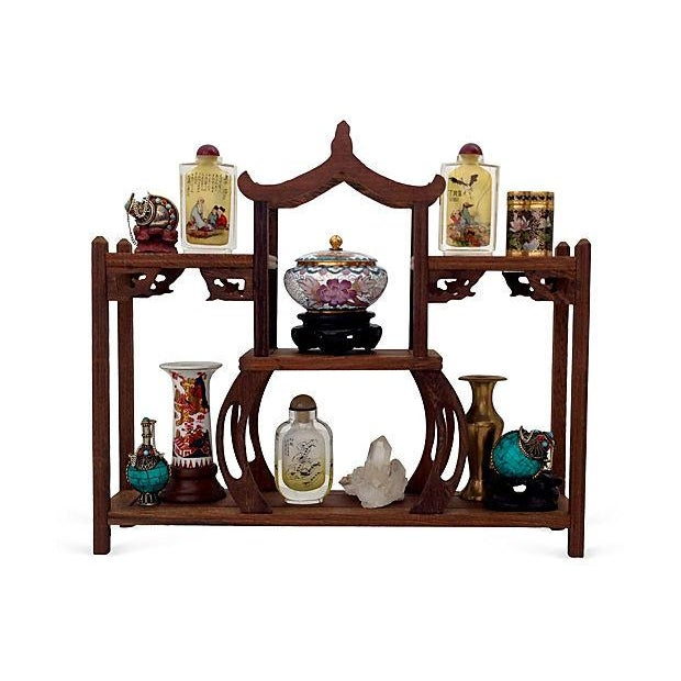 Image of Asian Snuff Bottles with Stand, Set of 16