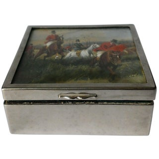 Antique Signed George Wright Hand-Painted Jewelry Box