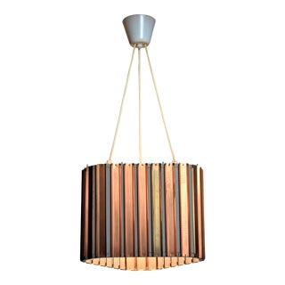 Copper and sheet metal pendant, Sweden, 1960s