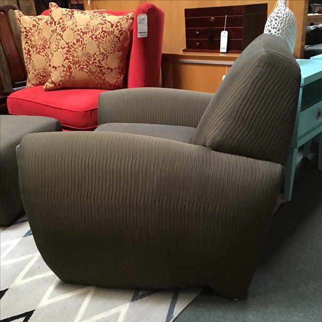 Dakota Jackson Ke-Zu Chair & Ottoman Set - Image 5 of 9